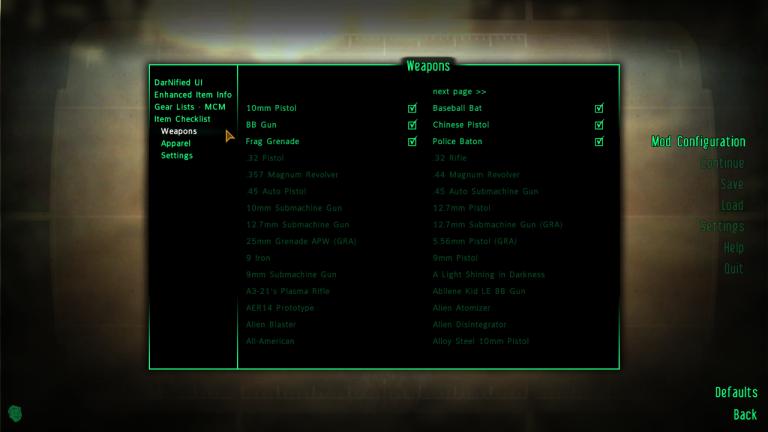 Gear Checklist